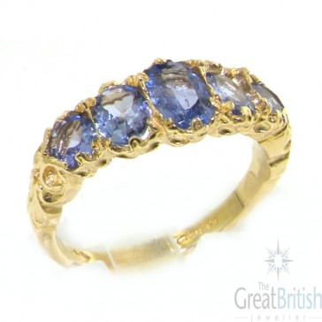 9ct Gold Elegant Tanzanite Ring