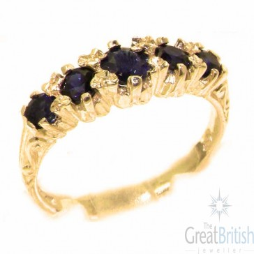 9ct Yellow Gold Natural Sapphire Ring