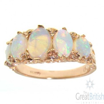 9ct Rose Gold Opal 5 Stone Ring