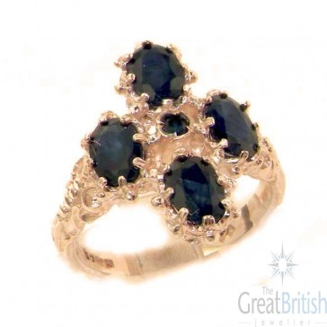9ct Rose Gold Natural Sapphire Ring