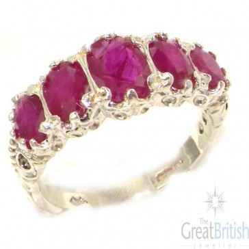 Sterling Silver Genuine Ruby Ring