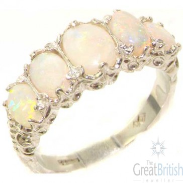 Sterling Silver Colourful Opal Ring
