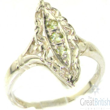 Sterling Silver Natural Peridot Ring