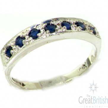 9ct White Gold Sapphire Eternity Ring