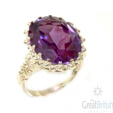 Sterling Silver Synthetic Alexandrite Ring