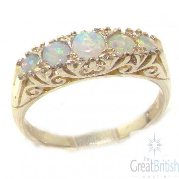 Sterling Silver Colourful Fiery Opal Ring