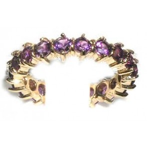 9ct Yellow Gold Amethyst Full Eternity Ring