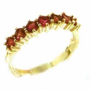 14K Yellow Gold Natural Pink Tourmaline Eternity Ring