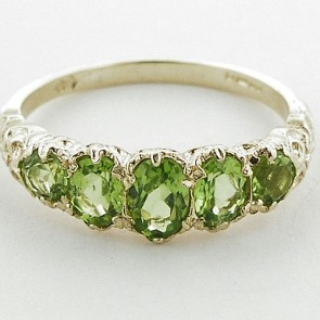 14K Yellow Gold Natural Peridot English Victorian Ring
