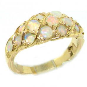 18ct Gold Fiery Opal Band Ring