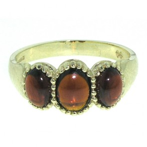 9ct Gold Cabouchon Garnet Ring