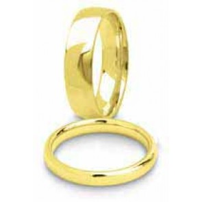 5mm 9ct Yellow Gold Mens Court (Comfort Fit) Wedding Ring