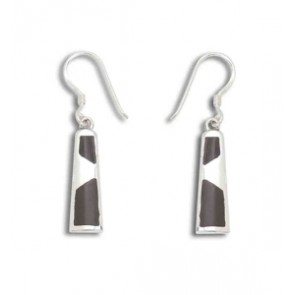 Sterling Silver Unusual Coconut Shell Earrings