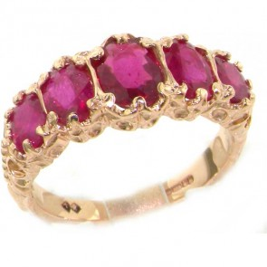 14K Rose Gold AAA Quality Ruby Ring