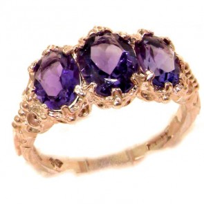 9ct Rose Gold Natural 2.6ct Amethyst Ring