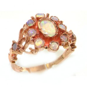 9ct Rose Gold Ladies Victorian Style Opal Ring