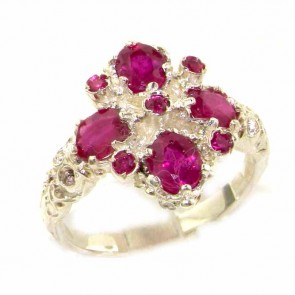 Sterling Silver Vibrant Ruby Ring