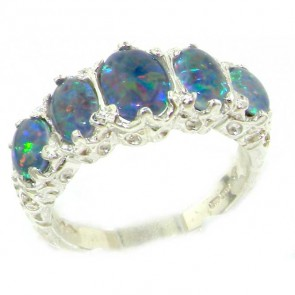 Sterling Silver Ladies 3.00ct Opal Ring