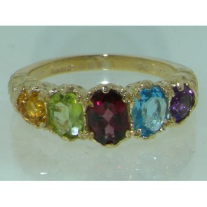 9ct Yellow Gold Multigemstone Ring