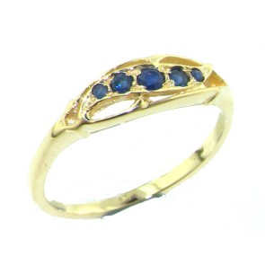 9ct Yellow Gold Sapphire Eternity Ring