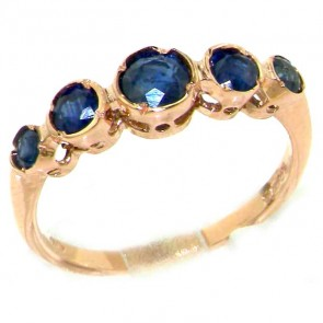 9ct Rose Gold Sapphire Eternity Ring