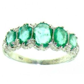 9ct White Gold Emerald 3.5ct Ring